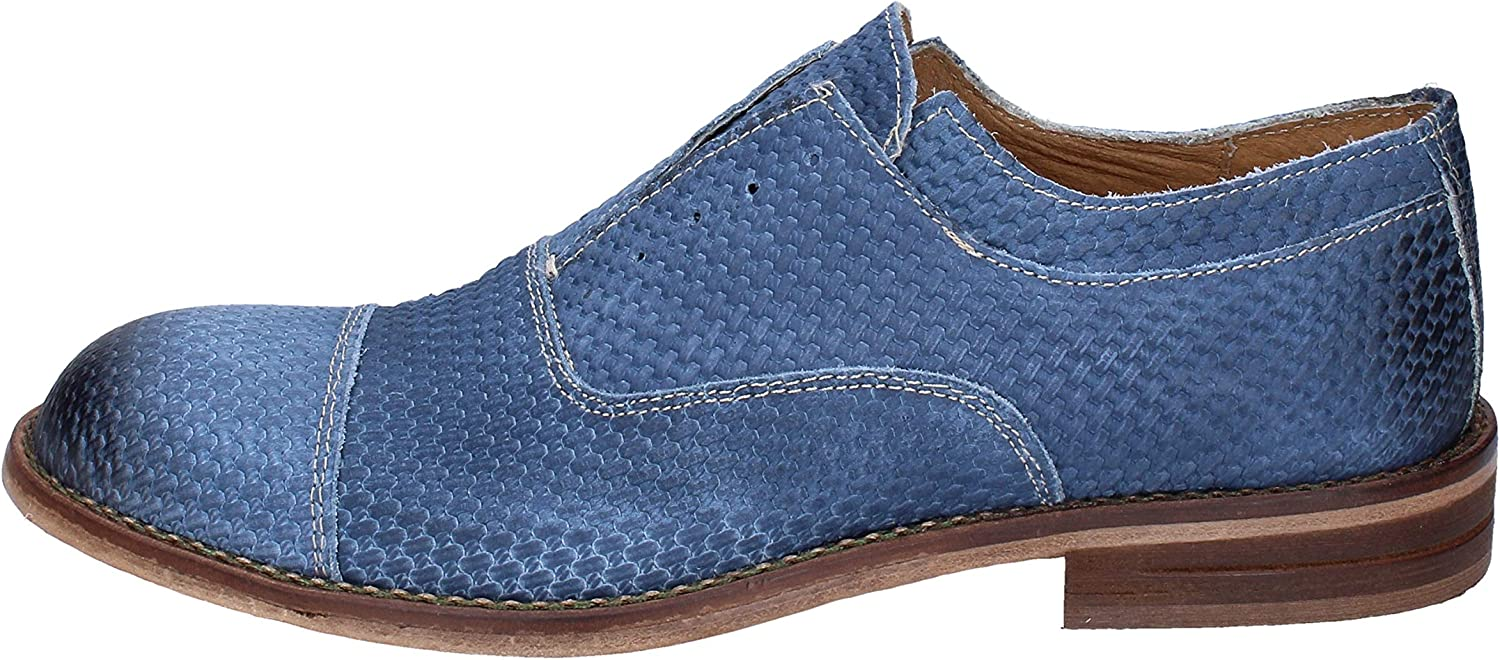 +2 Made in  Oxfords-shoes Mens Nubuck bluee 7 UK