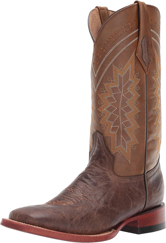 Ferrini Men's Kangaroo Chocolate S-Toe Leather Boots