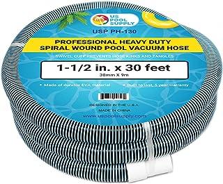 "EE.UU. Pool Supply Manguera de aspiradora profesional de 1-1/2"" x 30 pies, con manguito giratorio, 1 paquete"