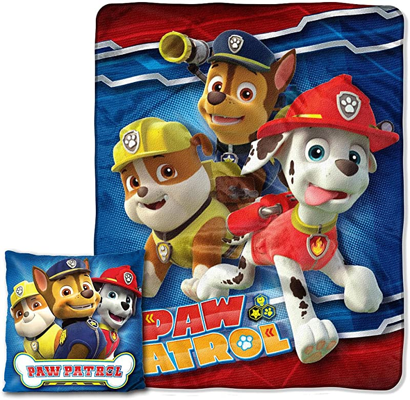 Disney S Paw Patrol Pals Pillow And Throw 2 Pieces Blanket Set