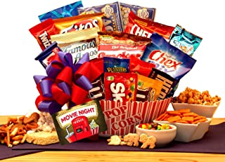 Movie Lovers Ultimate Movie Night Gift with Redbox Card gift card, popcorn, chocolates, snacks and more