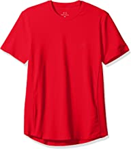 A|X Armani Exchange Men's Cotton Spandex Crew Neck Front Chest Logo Side Piping