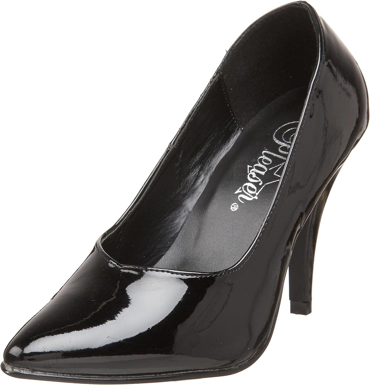 Pleaser Pink Label Women's Dre420 b Dress Sandal, Black Patent, 6 M US