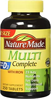 Nature Made Multi Complete Vitamin & Mineral Tabs 250 tablets