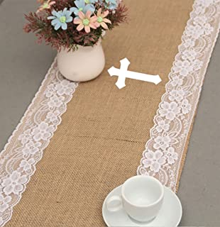 NekstGen First Holy Communion Party Decorations | 1st Communion for Boys and Girls | 8x6 God Bless Burlap Banner - A Complete Table Decoration Set