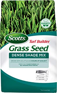 Scotts Turf Builder Grass Seed Dense Shade Mix - 7 Lb. - Grows in as Little as 3 Hours of Sunlight, Mix of Shade-Tolerant ...