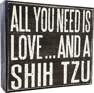 WickedGoodz Oval Pink Shih Tzu MOM Vinyl Window Decal Dog Bumper Sticker Perfect Shih TZU Dog Mother Gift