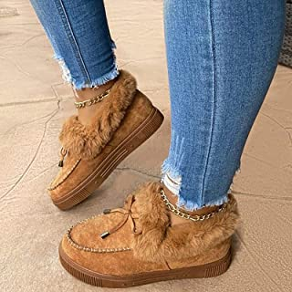 GJH Botas de Nieve de Invierno Mujer, Botas Planas de Moda Casual 2020, Antideslizante Zapatos Duraderos de Invierno Cálid...