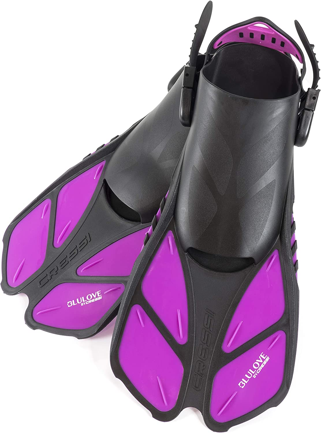 Very Light Bonete: Designed in Italy Cressi Adult Short Adjustable Swim Fins with UltraResistant Buckles Ideal for Traveling