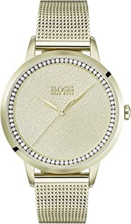 Hugo Boss Black Women'S Thin Gold Dial Ionic Thin Gold Plated 1 Steel Watch - 1502465