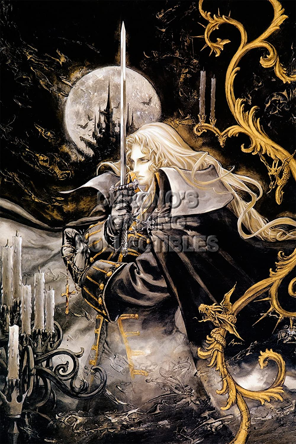 Castlevania Symphony of the Night HD Print Anime Wall Poster Scroll Room Decor