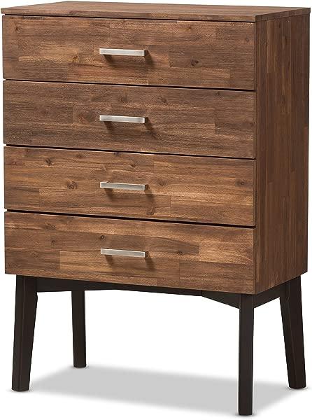 Baxton Studio 4 Drawer Wooden Chest In Brown