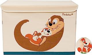 Flöckchen Boîte de rangement pour enfants - Boîte à jouets pour chambre d'enfant - 62 x 38 x 37 cm - Motif animaux (famill...