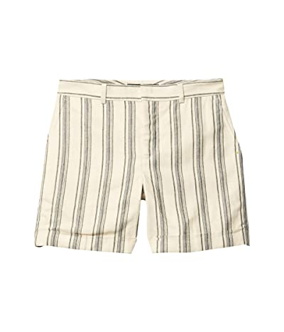 LAUREN Ralph Lauren Striped Linen Twill Shorts (Cream Multi) Women