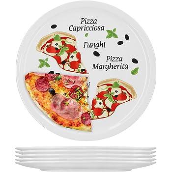 MamboCat Nero Lot de 2 assiettes /à pizza Noir /Ø 32 cm