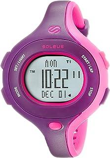 ساعة كوارتز للنساء SR009 بشاشة رقمية ملونة من سولس