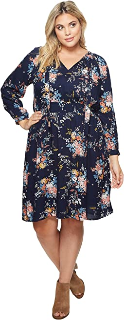 Lucky Brand - Plus Size Drop Waist Printed Dress