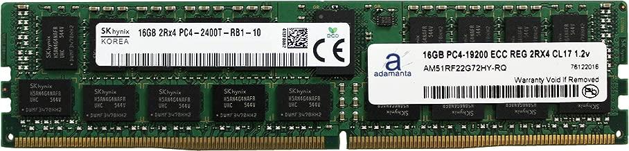 Adamanta 16GB (1x16GB) Server Memory Upgrade Compatible Compatible for Dell Poweredge, HP Apollo & HP Proliant Servers DDR4 2400MHZ PC4-19200 ECC Registered Chip 2Rx4 CL17 1.2v DRAM RAM