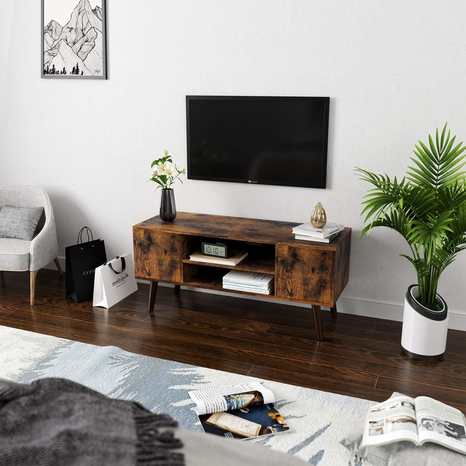 VASAGLE Armario Rústico para TV, Mesa para TV, Aparador bajo, Estilo Moderno, para Salón, Sala de Juegos, Escritorio, Marrón Rústico LTV08BX: Amazon.es: Hogar