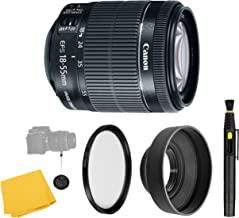 CanonEF-S 18-55mm f/3.5-5.6 IS STM Lens + UV Filter + Collapsible Rubber Lens Hood + Lens Cleaning Pen + Lens Cap Keeper + Cleaning Cloth - 18-55mm STM: International Version (No warranty)
