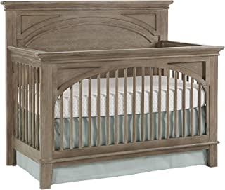 Westwood Design Leland 4 in 1 Convertible Crib with Spindle, Stone Washed