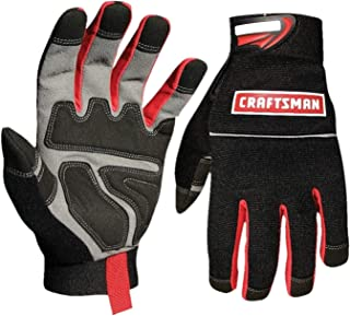 Craftsman 40071 Utility Work Gloves, Tough Superior Protection, Excellent Grip, Stretchable and Breathable, Machine Washable, Shrink Resistant, Size Large