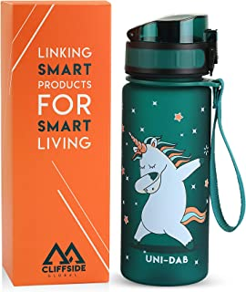 Kids Water Bottle - 12oz - Leak Proof - BPA FREE & NON-Toxic - Fast or Slow Flow - Single Action Lid - Eco-Friendly & Durable TRITAN Material - Reusable - Unicorn Approved