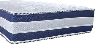 Arensberger Colchón RELAXX 7 Zonas de Bienestar con Espuma de Memoria 3D, 120 cm x 200cm, Altura 27 cm, Densidad 50 kg/m³, Tres Capas: Espuma fría + Espuma viscoelástica + Gel