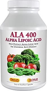 Andrew Lessman Alpha Lipoic Acid ALA 400 - 240 Capsules – The Universal Anti-Oxidant, Ultra-High Potency Support for Brain...