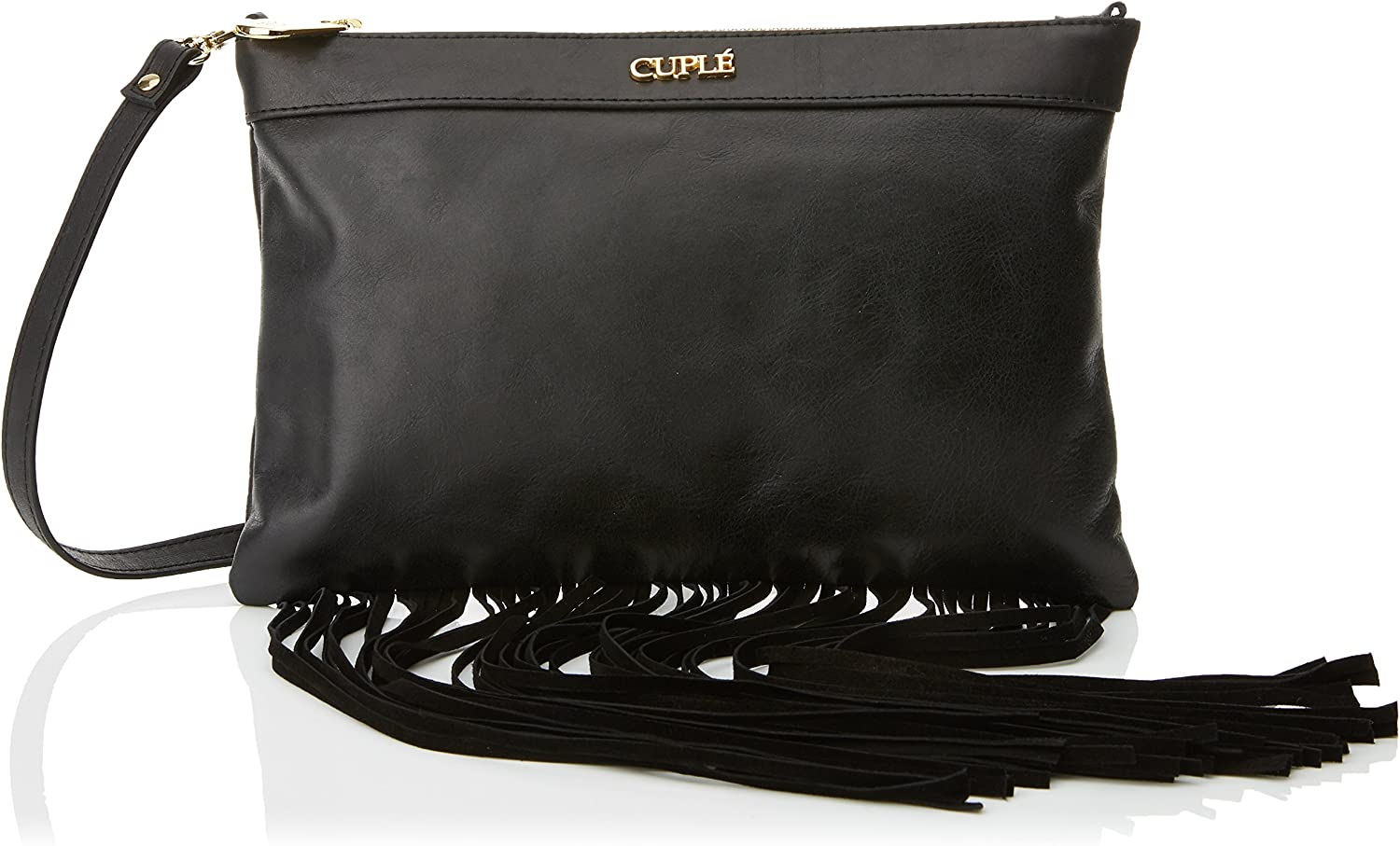 CUPLE 103095, Women's Messenger Bag, black, 2x19x28 cm (W x H L)