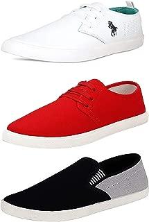 BERLOC Men's 3 Combo Pack of Sneakers & Loafers