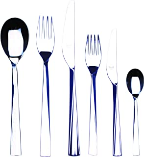 Mepra 105922036 Flatware Set, [36 Piece, Metallic Finish, Dishwasher Safe Cutlery