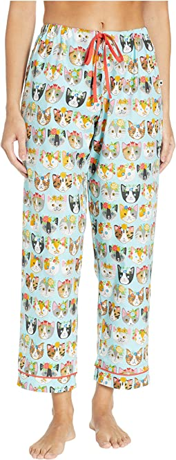 Flower Kitty Pajama Pants
