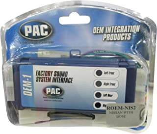 PAC ROEM-NIS2 System Interface Kit to Replace Factory Radio and Integrate Factory Amplifiers for 1995-2002 Nissan Vehicles with Bose Audio Systems,Black