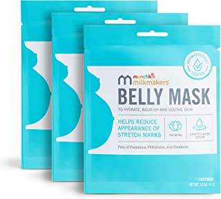Munchkin Milkmakers Belly Mask for Pregnancy Skin Care & Stretch Marks, 3 Sheet Masks