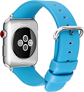 Fullmosa Compatible Apple Watch Bands 42mm 38mm, Show Series Calf Leather Compatible iWatch Band/Strap with Stainless Stee...