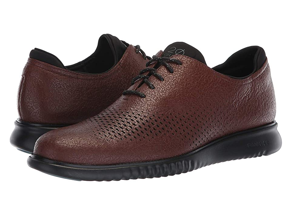 Cole Haan 2.Zerogrand Laser Wing Oxford (Hickory Textured Leather/Black) Men