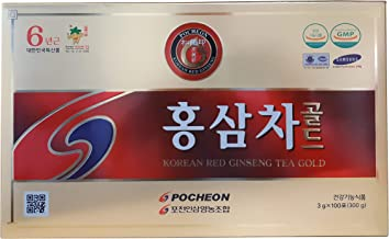 Pocheon 300g(3g x 100p) Korean Panax Red Ginseng Roots Extract Tea Gold 6Years, 15% Extract