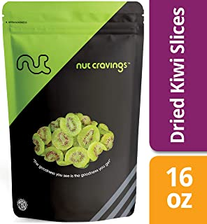 Nut Cravings Dried Kiwi Slices (1 Pound) – Sweet, Healthy Dehydrated Fruit Snacks – 16 Ounce