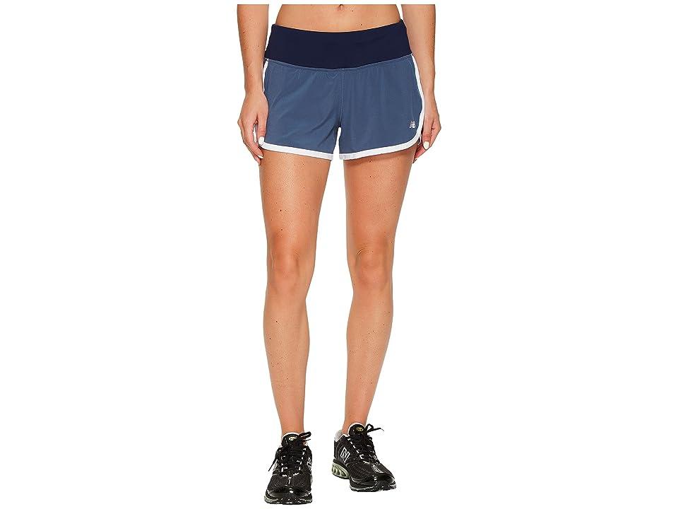 New Balance Impact 3 Shorts (Vintage Indigo) Women