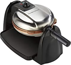 Hamilton Beach Flip Belgian Waffle Maker with Non-Stick Copper Ceramic Removable Plates,..