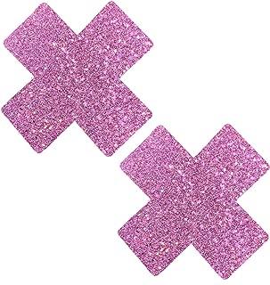 Neva Nude Pegasus Kisses Iridescent Pink Purple Glitter X Factor Nipztix Pasties Nipple Cover