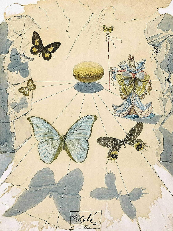 Salvador Dali 1950 Allegorie de Soie Canvas New life - Art quality assurance or Wall Print