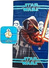 مجموعة مناشف الحمام / الغسيل من Jay Franco Classic Star Wars Ep7 من القطن قطعتين ، باللون الأزرق الداكن