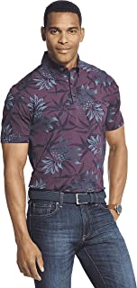 Van Heusen Men's Air Short Sleeve Soft Touch Print Polo Shirt