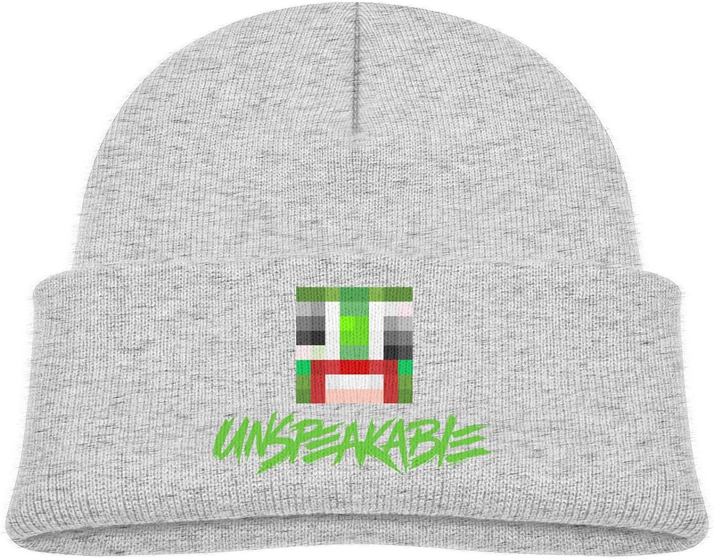 HONG111 Kids Beanie Hats Un-Speaka-Ble Skull Cap Cuffed Plain Cuff Knitted Slouchy Hats