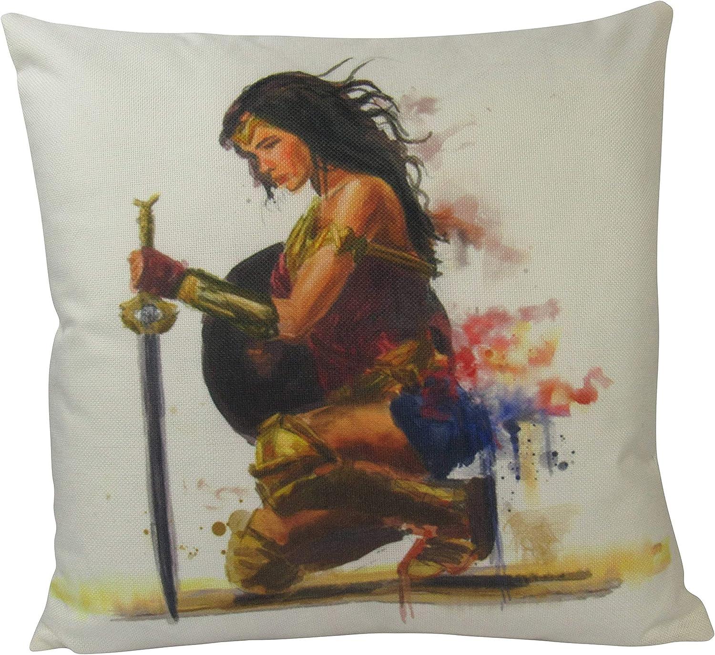 Woman Art Superhero Watercolor Fun Very popular! Gifts Cover Pillow Mail order cheap
