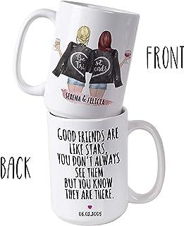Custom Best Friend Gifts, 15oz Coffee Mug for Women – Long Distance Friendship..