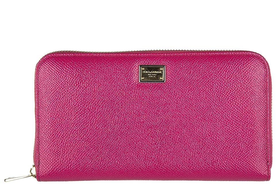 大腿未払いブラケットDolce & Gabbana (ドルチェ&ガッバーナ) レディース財布コインケースホルダー財布カード二つ折りZip Around Dauph