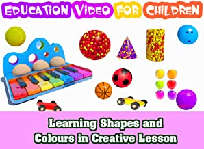 Learning Shapes and Colours in Creative Lesson - Education Video for Children